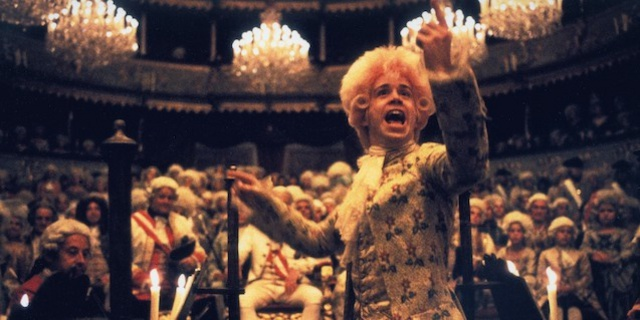 Tom Hulce in Amadeus.